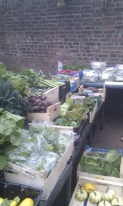 Organic veg from Fletching Glasshouses at Lewes Market